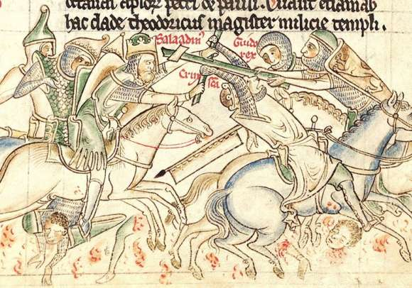 Guy de Lusignan and Saladin in Battle