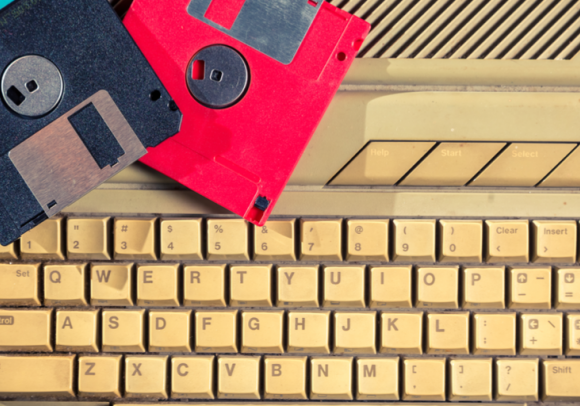 Keyboard and Floppy Disk